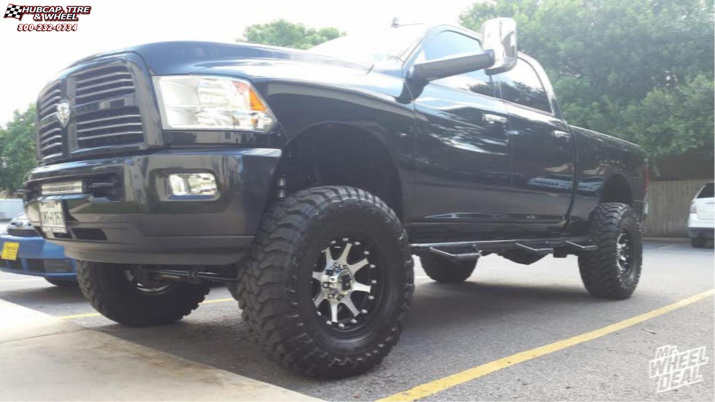 vehicle gallery/2013 ram 2500 xd series xd798 addict 18x9  Matte Black Machined wheels and rims