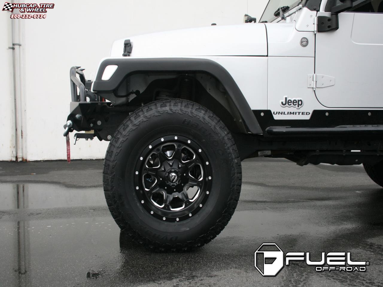 Jeep Wrangler Fuel Boost D534 Wheels Matte Black Milled With 17x9 And Rims