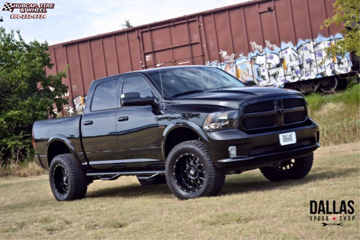 Dodge Ram 1500 Black Rims >> Dodge Ram 1500 XD Series XD820 Grenade Wheels Satin Black