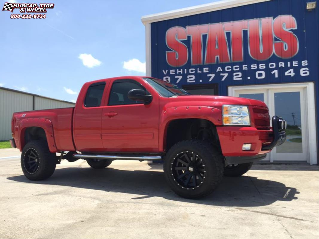 vehicle gallery/chevrolet silverado 1500 xd series xd818 heist  Satin Black wheels and rims