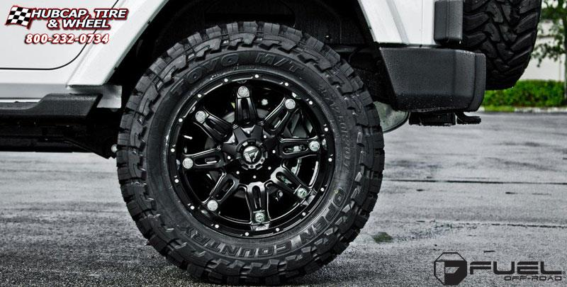 Jeep Wrangler Fuel Hostage D531 Wheels Matte Black