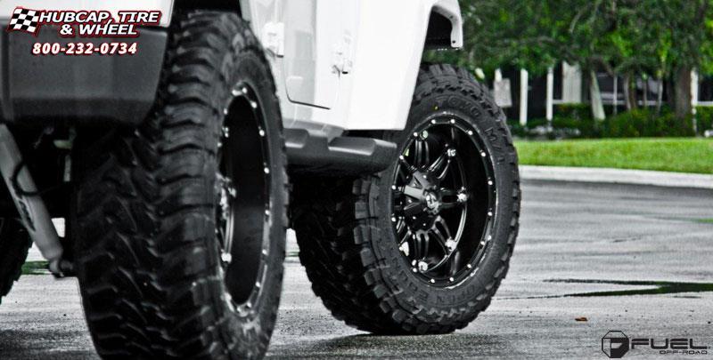 Jeep Wrangler Fuel Hostage D531 Wheels Matte Black