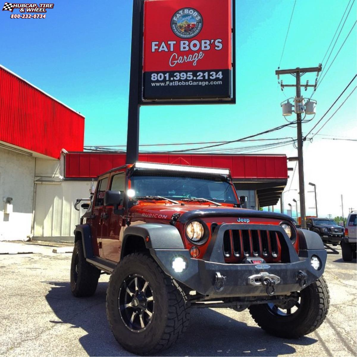 jeep wrangler moto metal mo970  Gloss Black Machined Face wheels and rims