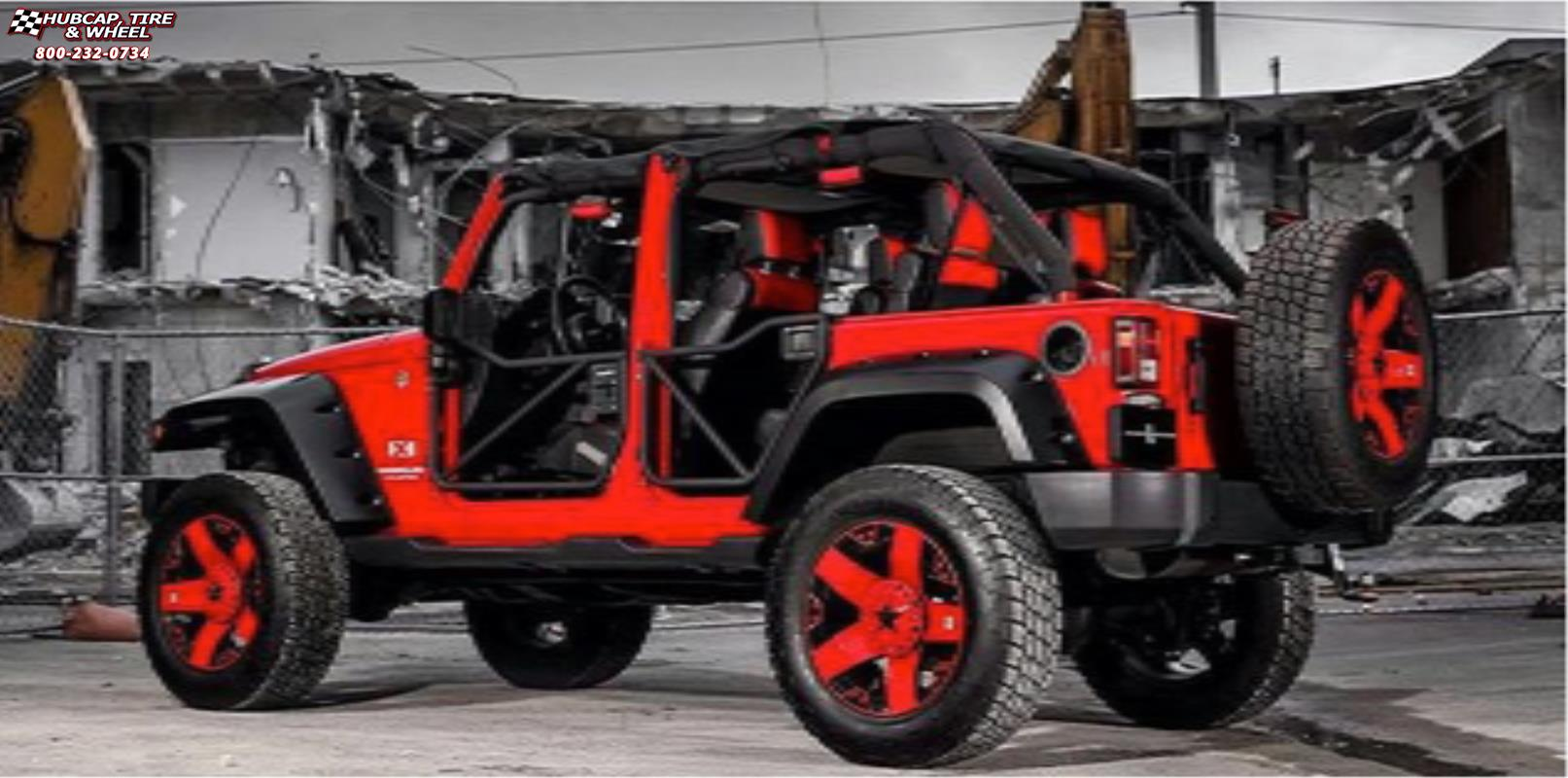 Jeep Wrangler Xd Series Xd775 Rockstar X Matte Black Red Wheels And Rims