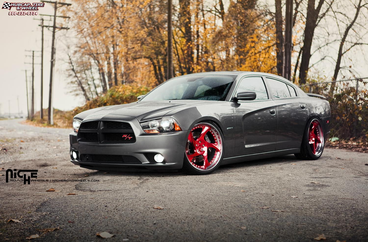 dodge charger niche scope wheels hi luster polish with candy apple tint gloss ddt. Black Bedroom Furniture Sets. Home Design Ideas
