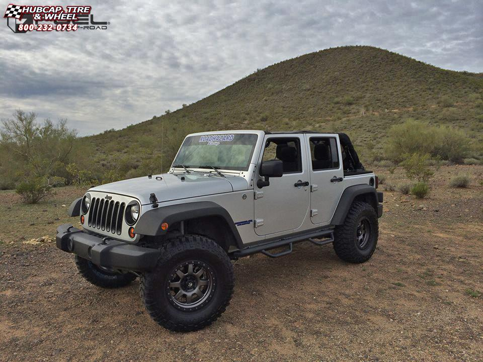 vehicle gallery/jeep wrangler fuel trophy d552 17X9  Matte Anthracite w/ Black Ring wheels and rims