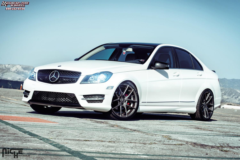 Mercedes benz c250 niche targa m129 wheels anthracite for Mercedes benz 19 wheels