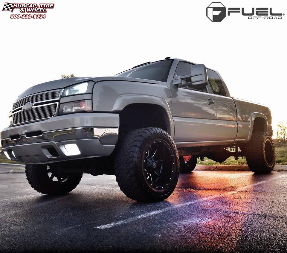 Chevrolet Silverado 1500 Fuel Maverick D538 Wheels Black ...