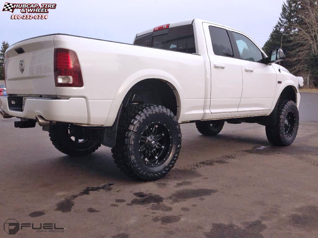 Dodge Ram 1500 Fuel Hostage D531 Wheels Matte Black
