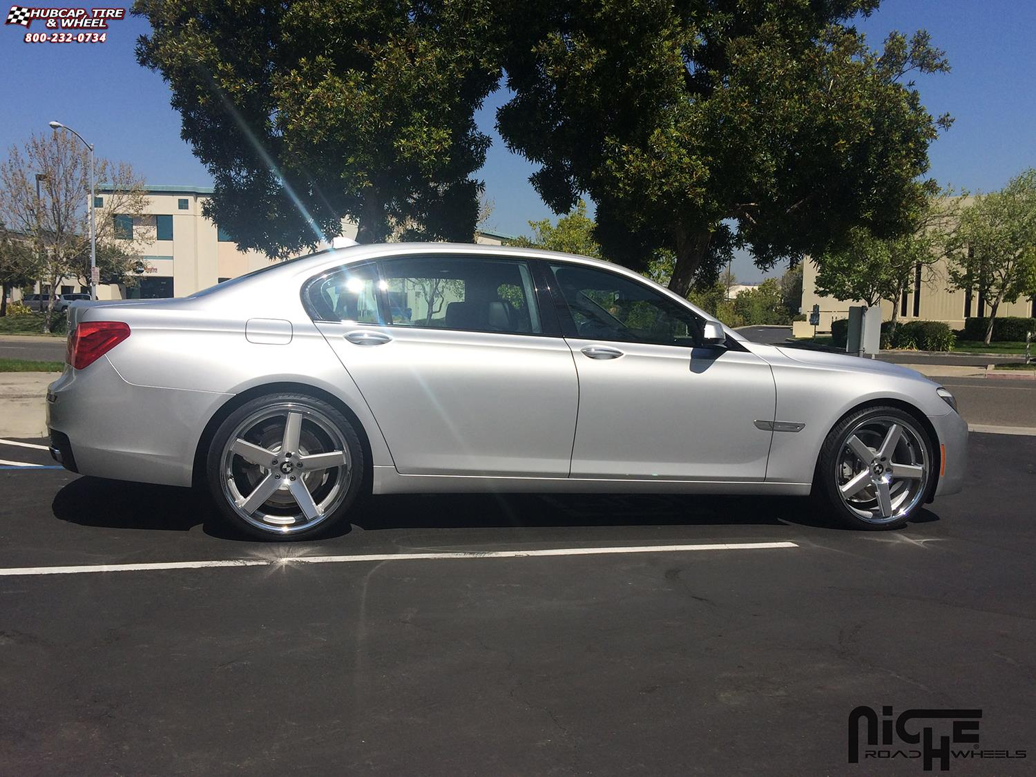 Bmw 750li Niche Nurburg M881 22x9 Silver Machined Chrome Stainless Wheels And Rims