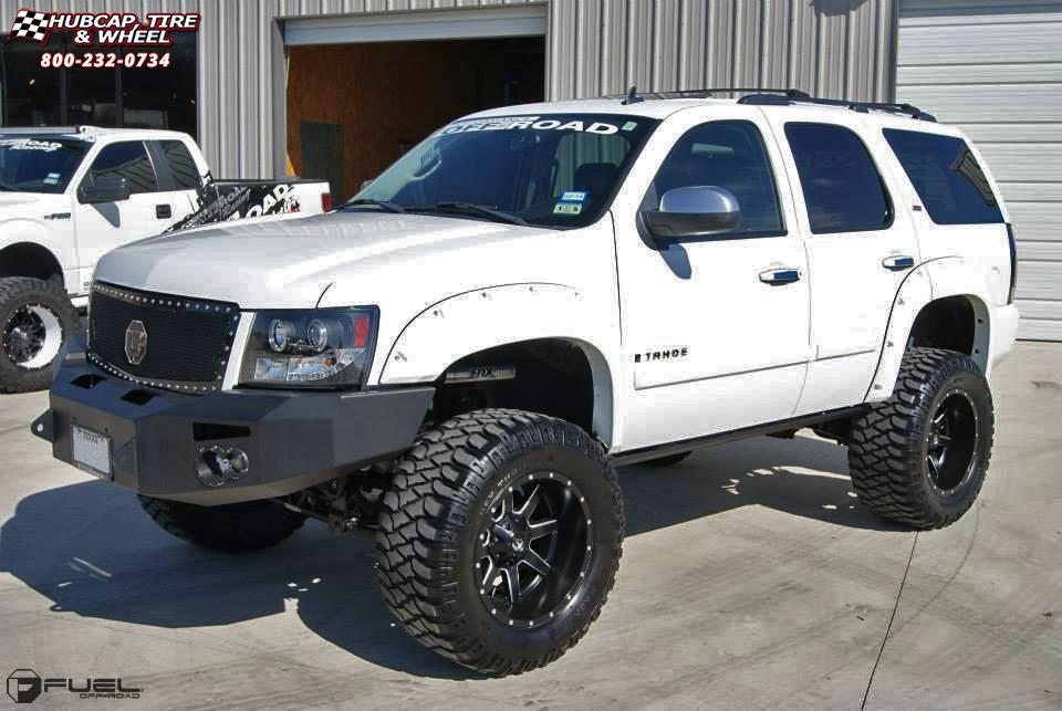 Chevrolet Tahoe Fuel Maverick D538 Wheels Black & Milled