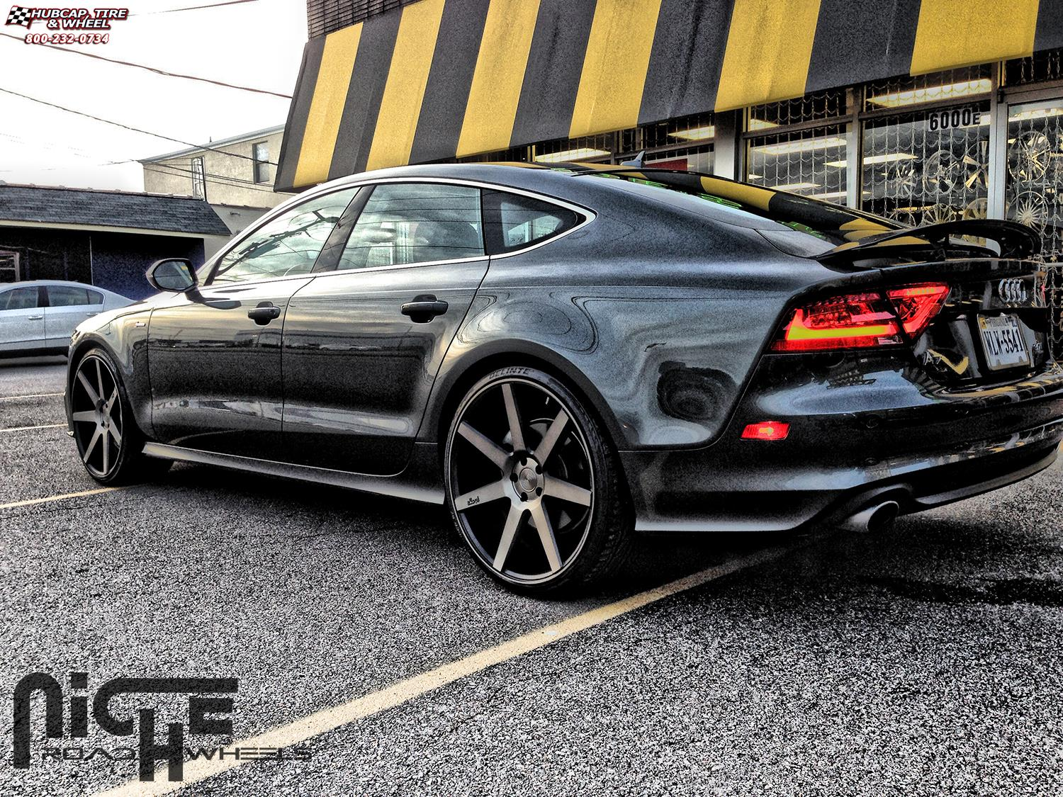 Audi A7 Niche Verona M150 Wheels Black Amp Machined With