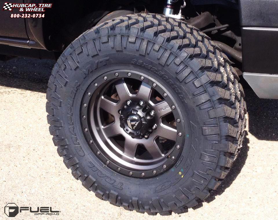 Chevrolet Silverado 1500 Fuel Trophy D552 Wheels Matte ...