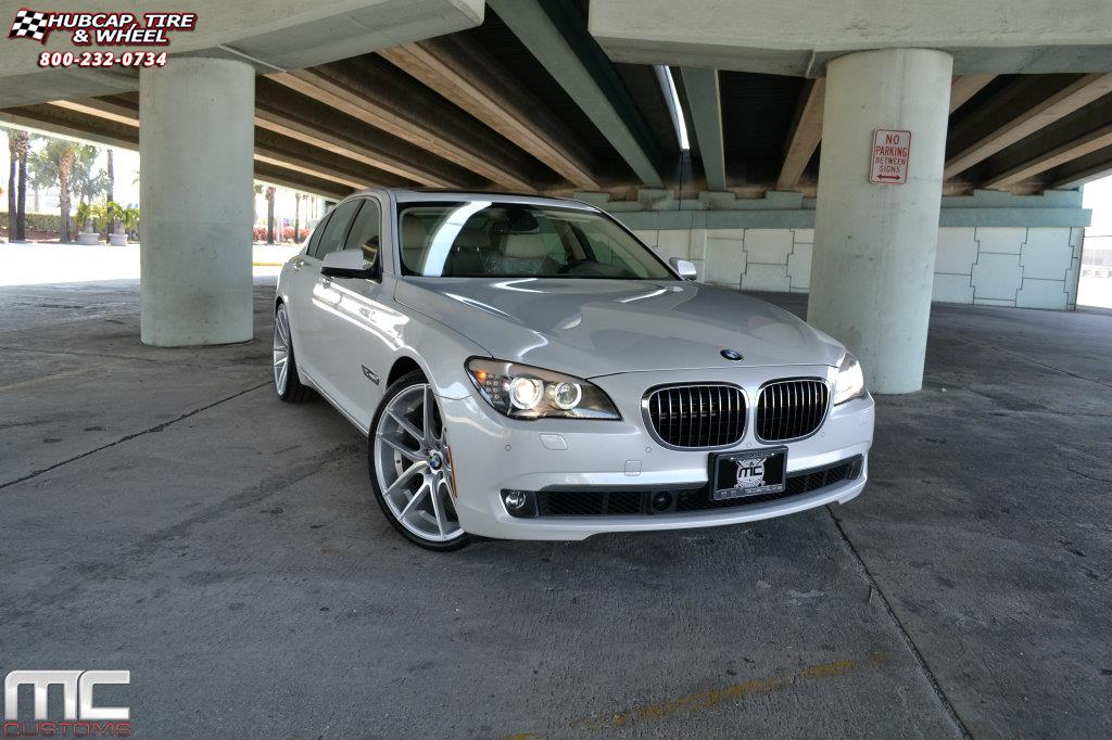 vehicle gallery/bmw 750i niche targa m131 22x9  Silver & Machined wheels and rims