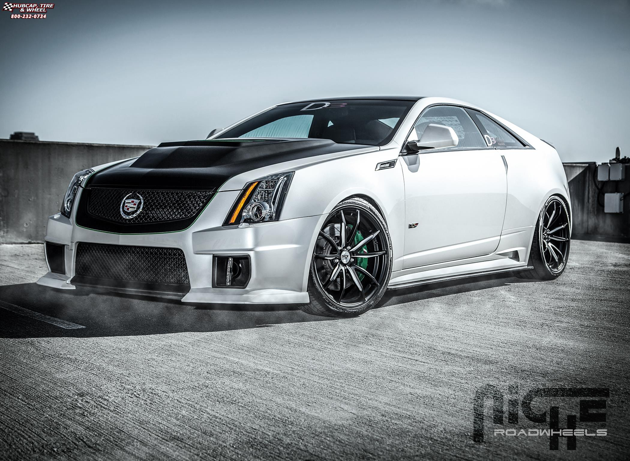 Cadillac CTS Niche Monza - H44 Wheels Matte Black | Brushed Accents