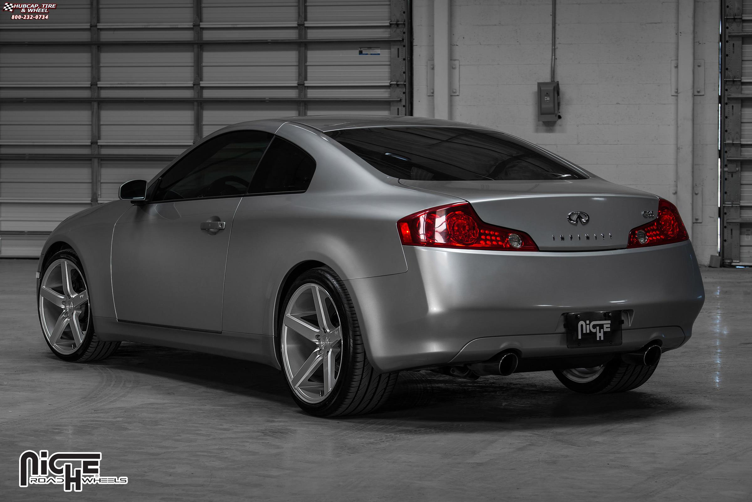 Infiniti G35 Niche Milan M135 Wheels Silver With Machine