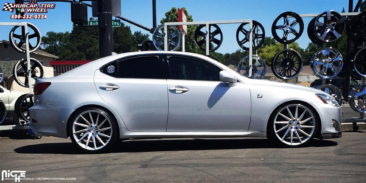 Lexus Is250 Niche Surge M112 Wheels Silver Machined