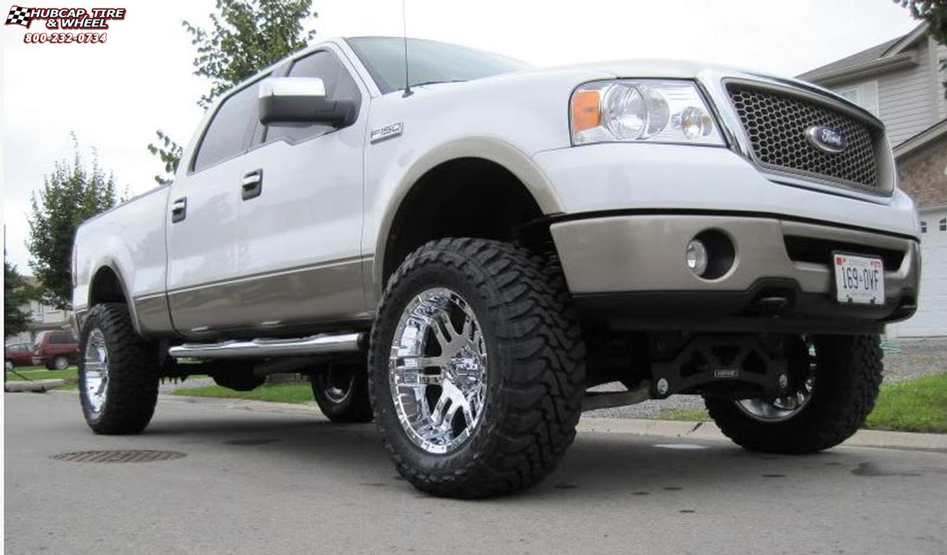 vehicle gallery/2006 ford f 150 moto metal mo951  Chrome wheels and rims