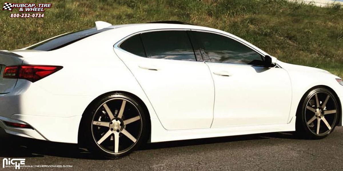 Acura Tlx Niche Verona M150 Wheels Black Amp Machined With
