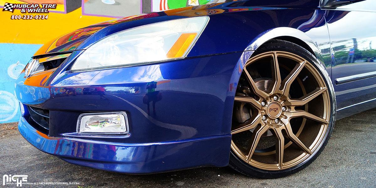 Honda accord niche ascari m167 wheels bronze for 1999 honda accord tire size