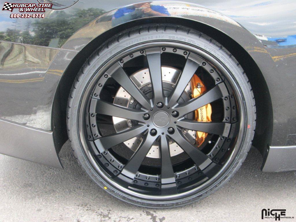 Nissan Gt R Niche Element Wheels Candy Black Rims 22x95 And