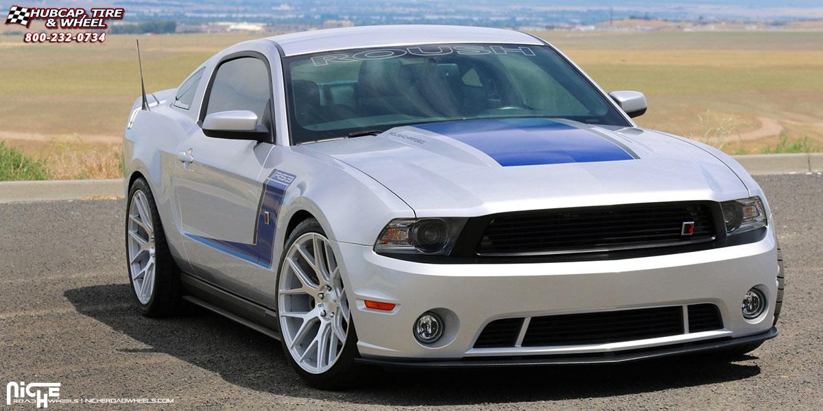 Niche Wheels Mustang >> Ford Mustang Niche Intake M160 Wheels Silver Machined