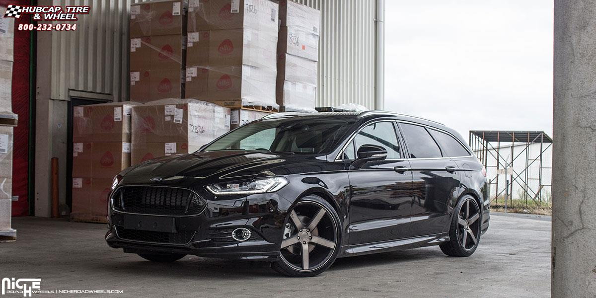 2014 Ford Fusion Tires >> Ford Mondeo Niche Milan - M134 Wheels Black & Machined with Dark Tint
