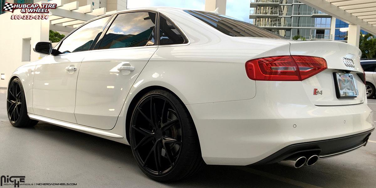 Audi S4 Niche Misano M117 Wheels Satin Black