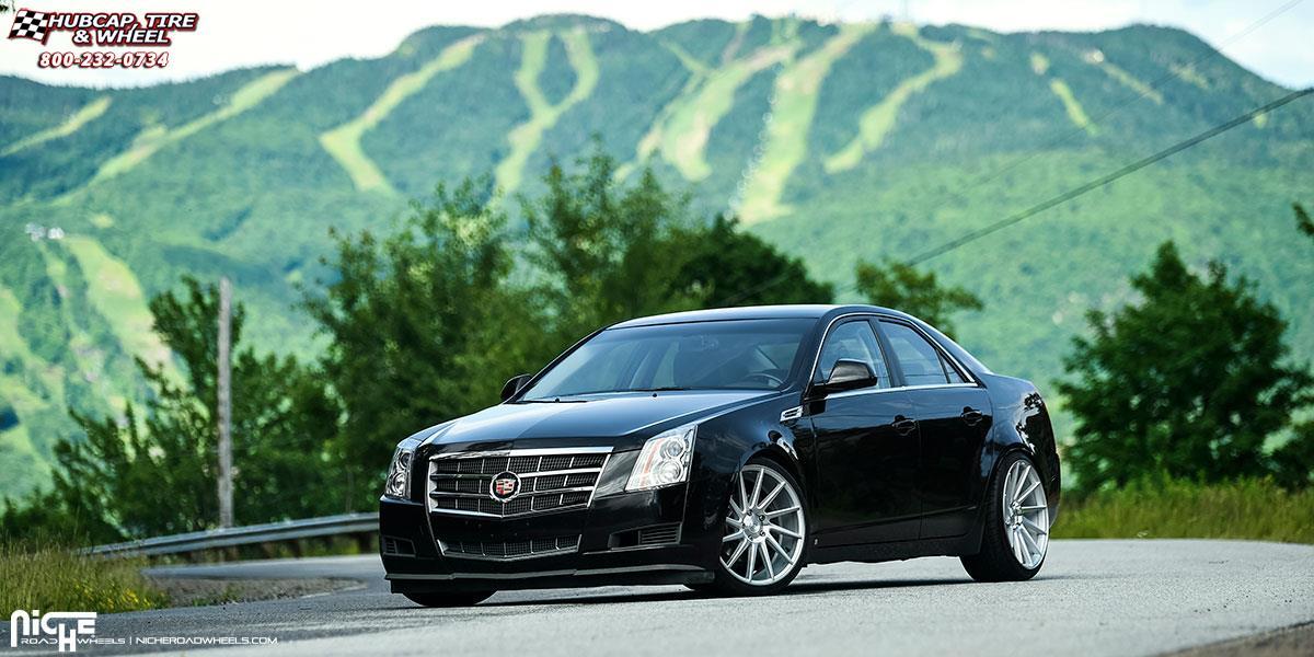 Cadillac CTS Niche Surge - M112 Wheels Silver & Machined