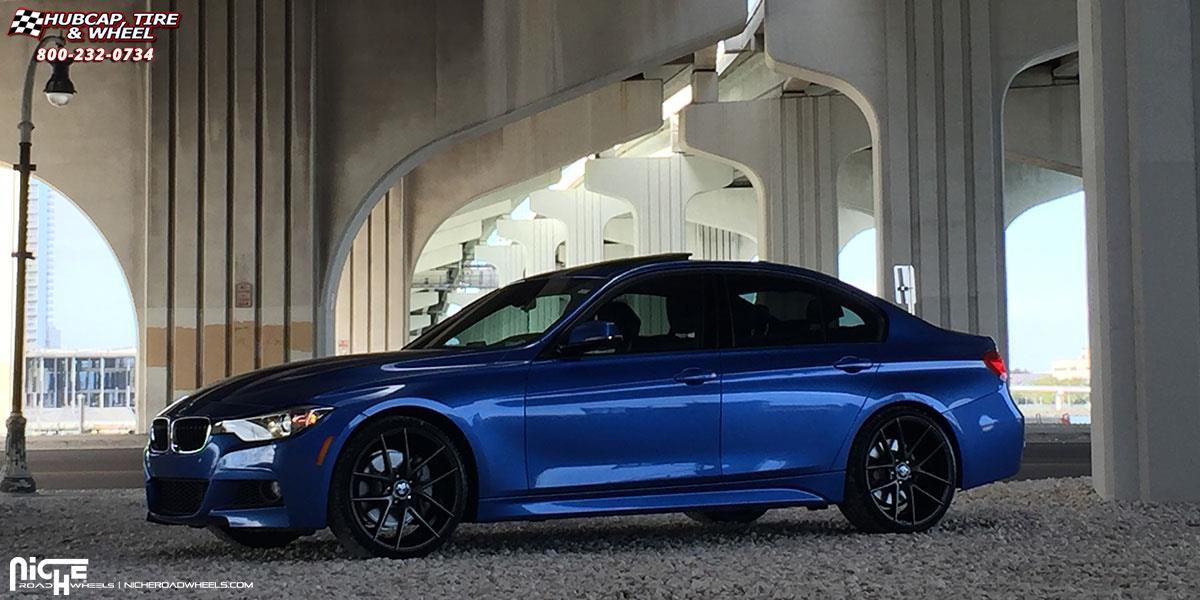 Focus St Towing >> BMW 335i Niche Targa - M130 Wheels Black & Machined with Dark Tint