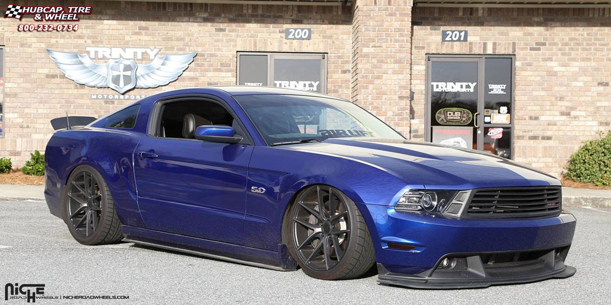 Niche Wheels Mustang >> Ford Mustang Niche Targa M130 Wheels Black Machined With