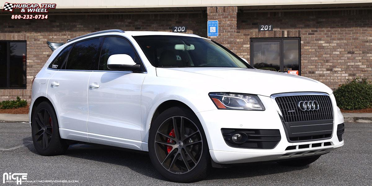 Audi Q5 Niche Enyo M115 Wheels Black Brushed With Double Dark Tint