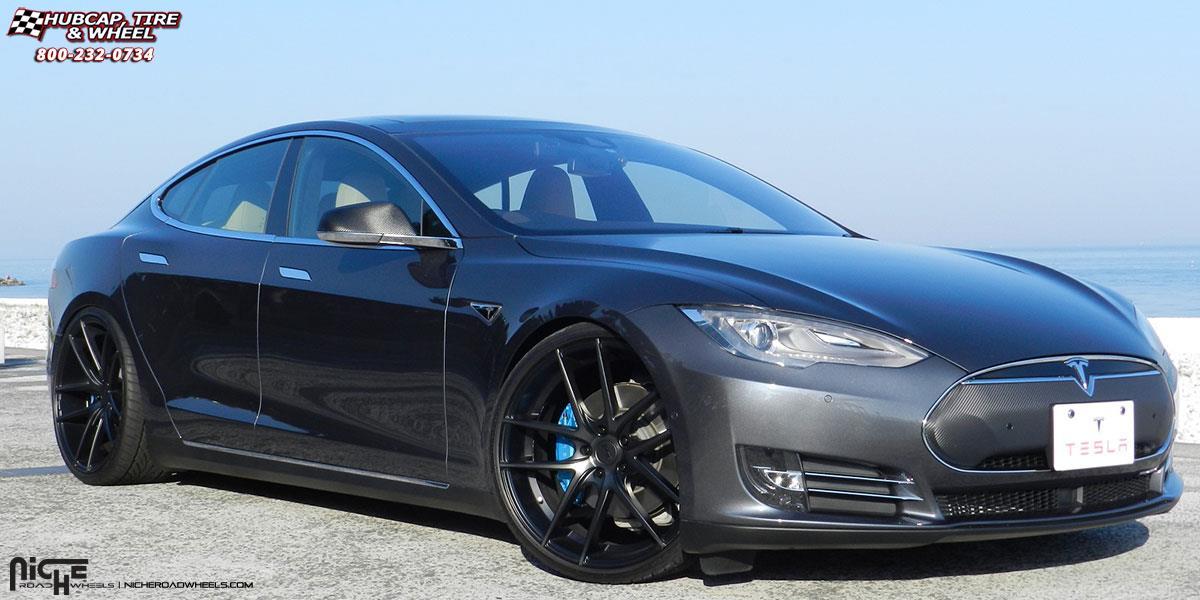 Tesla Model S Niche Targa M130 Wheels Black Amp Machined