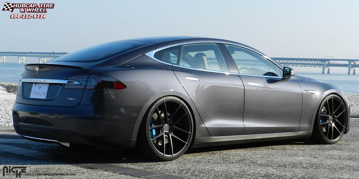 Tesla Model S Niche Targa M130 Wheels Black Amp Machined