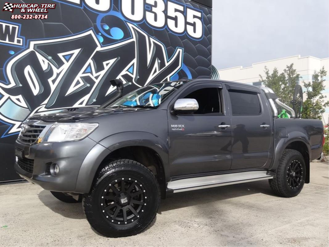 Toyota Hilux Xd Series Xd818 Heist Satin Black Wheels And Rims