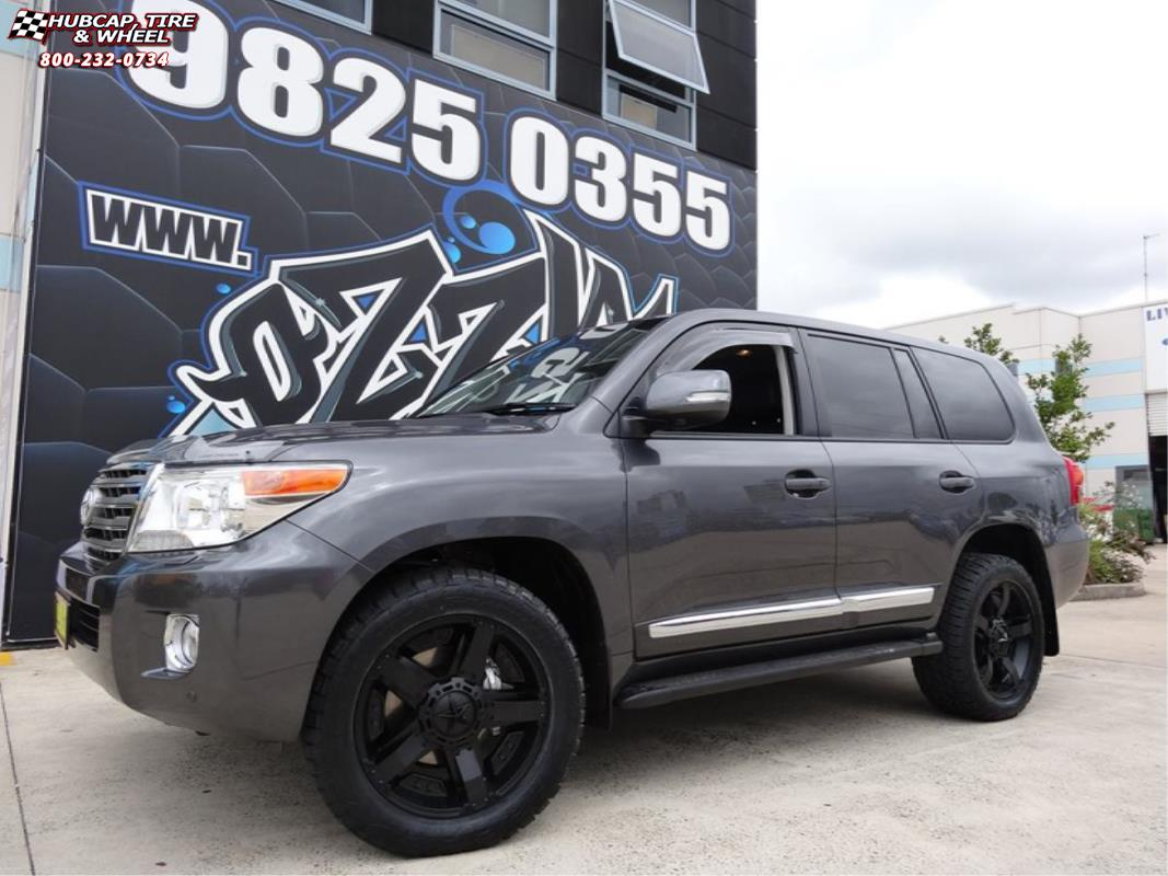 toyota land cruiser xd series xd811 rockstar 2 wheels satin black