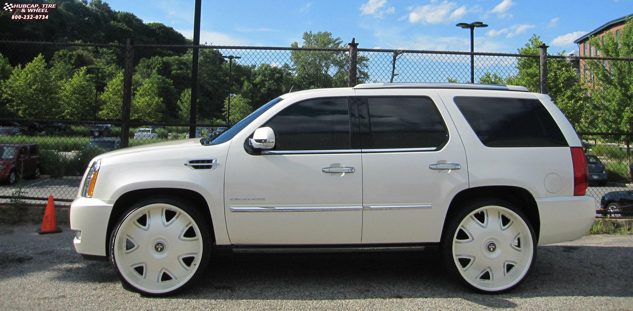 cadillac escalade dub bandito s138 wheels custom white. Black Bedroom Furniture Sets. Home Design Ideas