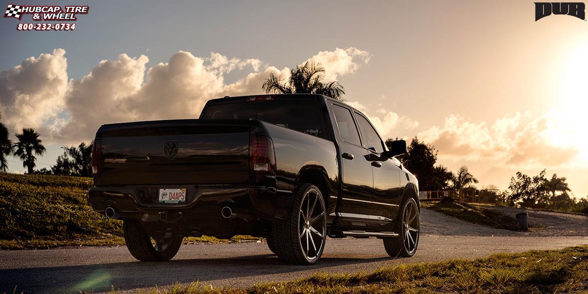 Hubcap Tire And Wheel >> Dodge Ram 1500 Dub Push - S110 Wheels Gloss Black