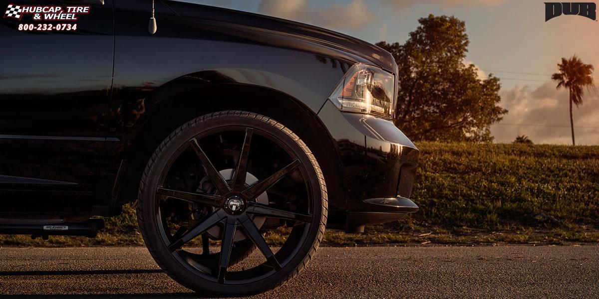 Dodge Ram 1500 Dub Push S110 Wheels Gloss Black