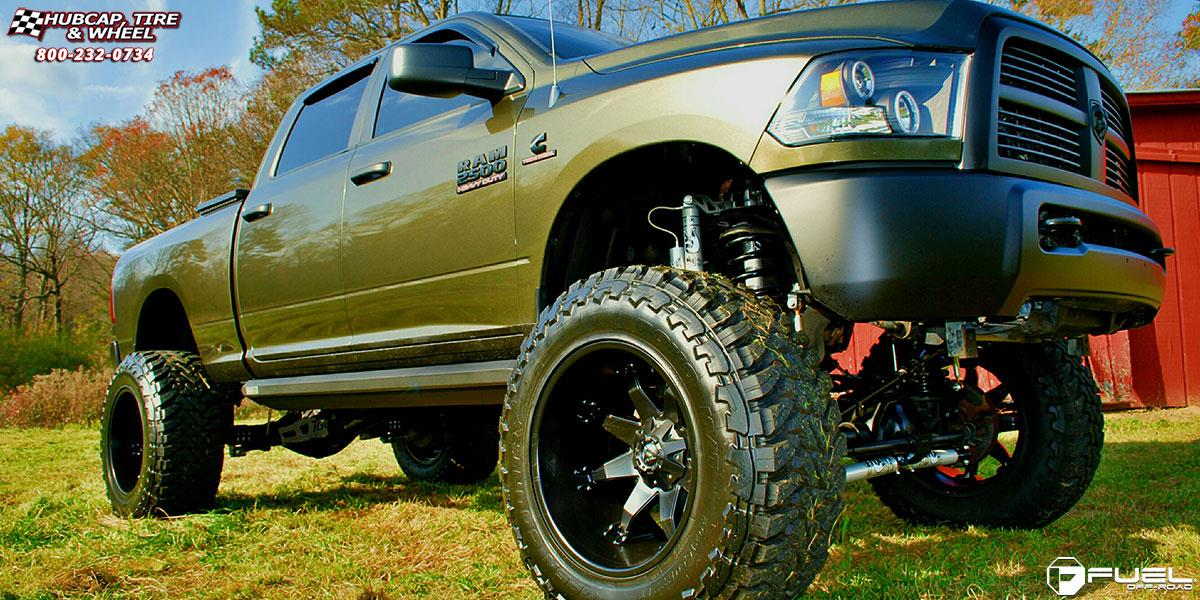 Dodge Ram 2500 Fuel Octane D509 Wheels Matte Black