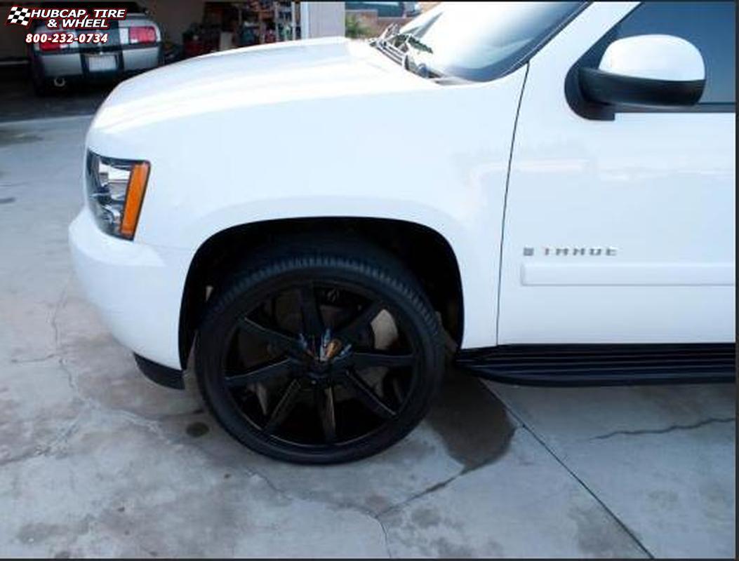 2011 GMC Yukon KMC KM651 Slide Wheels Gloss Black