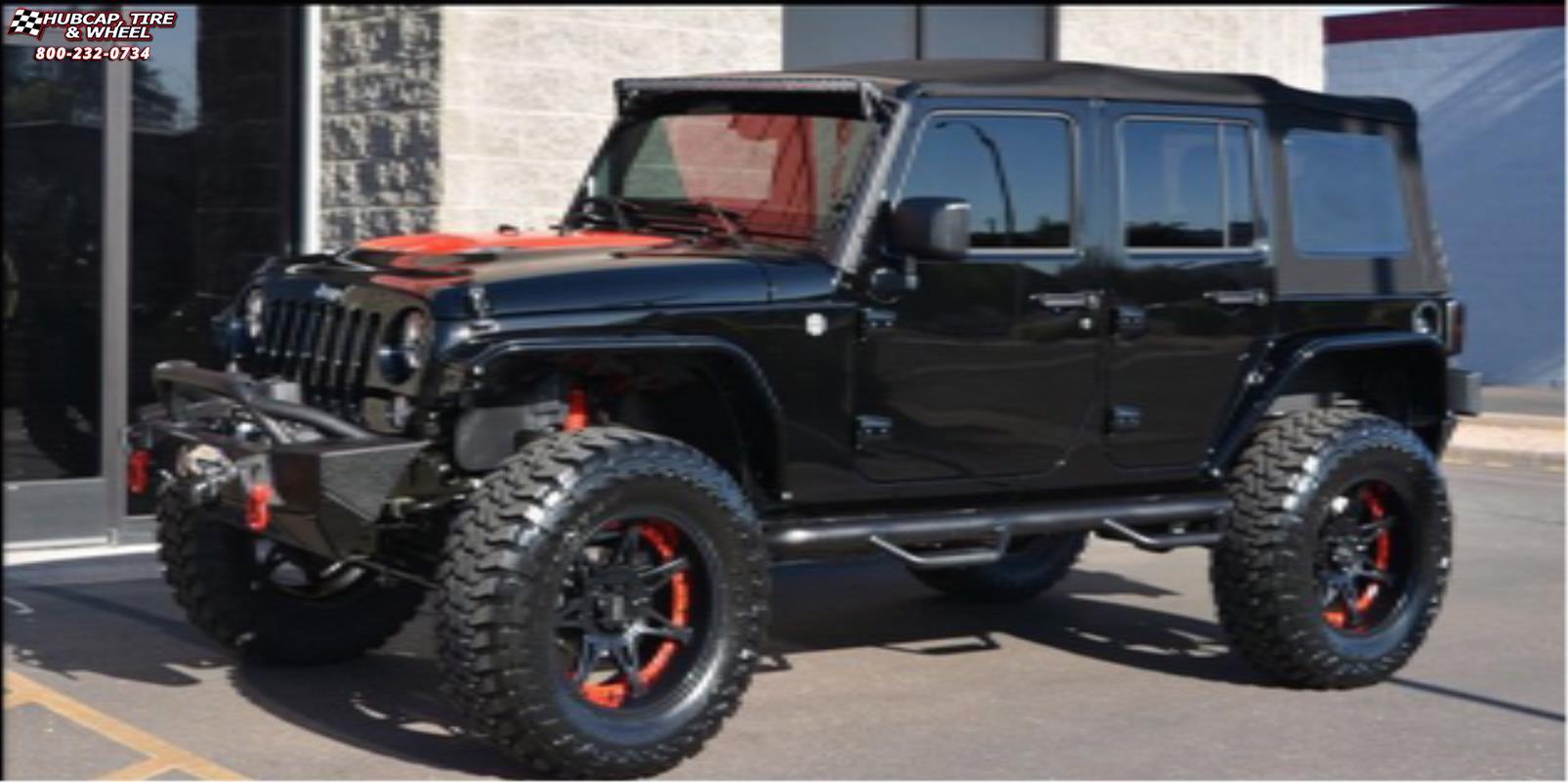 Jeep Wrangler Tops >> Jeep Wrangler Moto Metal MO961 Wheels Satin Black Red Insert