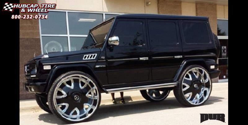 Mercedes Benz G Wagon Dub Bandito S136 Wheels Chrome