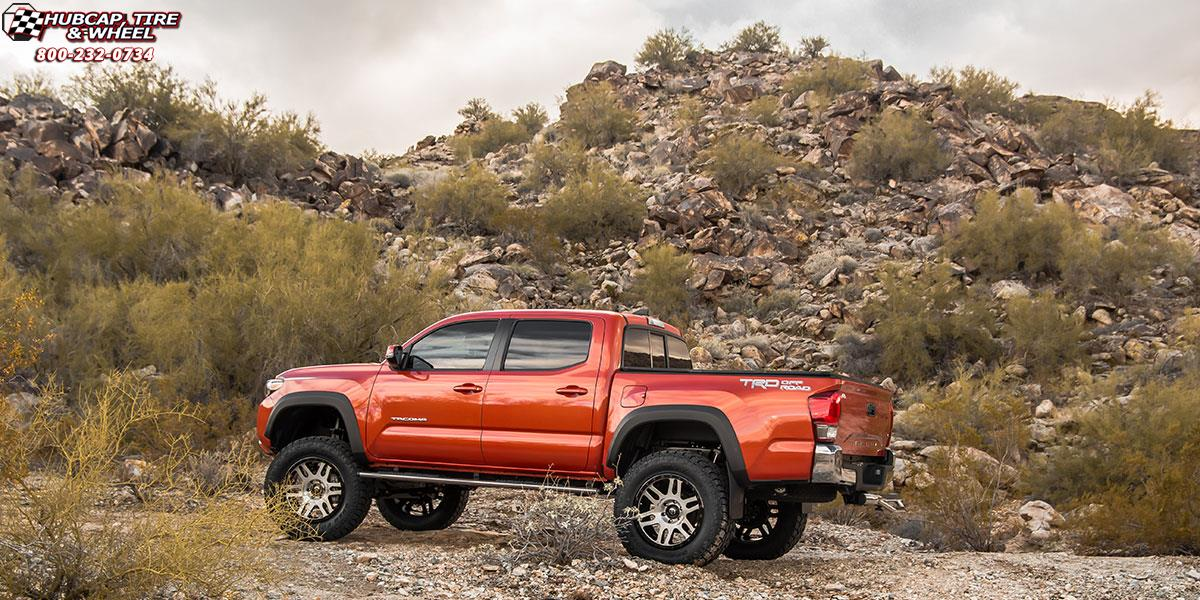 Toyota Tacoma Fuel Recoil D585 Wheels Brushed Face | Gloss ...