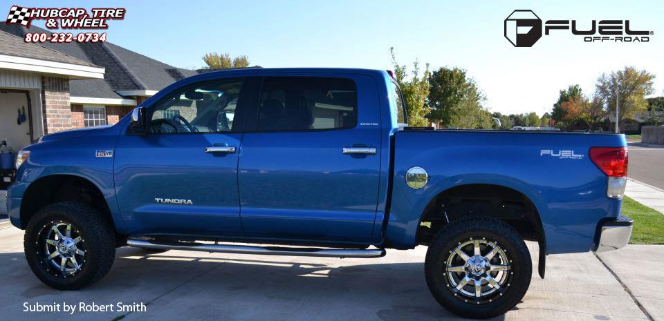 2010 F150 Custom >> Toyota Tundra Fuel Maverick D260 Wheels Chrome with Gloss Black Lip