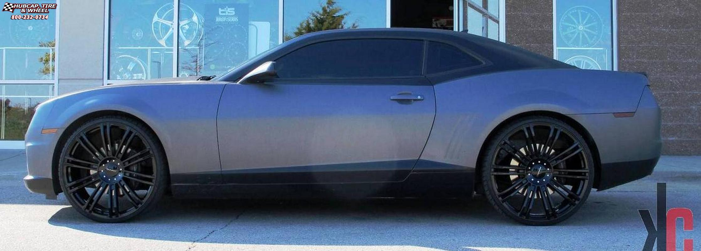 Chevy Camaro 2014 Black Rims
