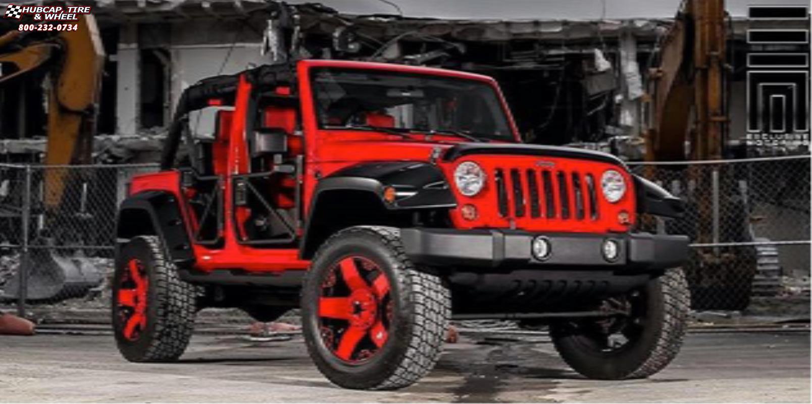 Jeep Wrangler Xd Series Xd775 Rockstar Wheels Matte Black Red