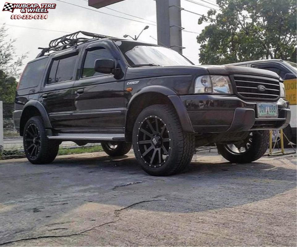 Ford explorer xd series xd818 heist wheels satin black ford explorer xd series xd818 heist satin black wheels and rims publicscrutiny Images
