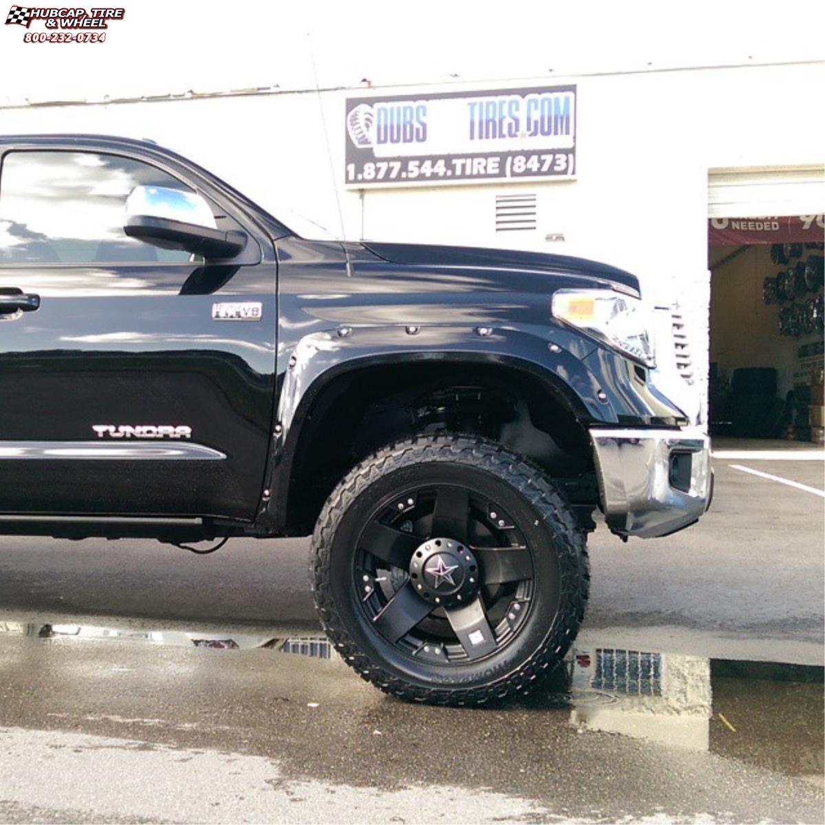 vehicle gallery/2016 toyota tundra xd series xd775 rockstar x  Matte Black wheels and rims