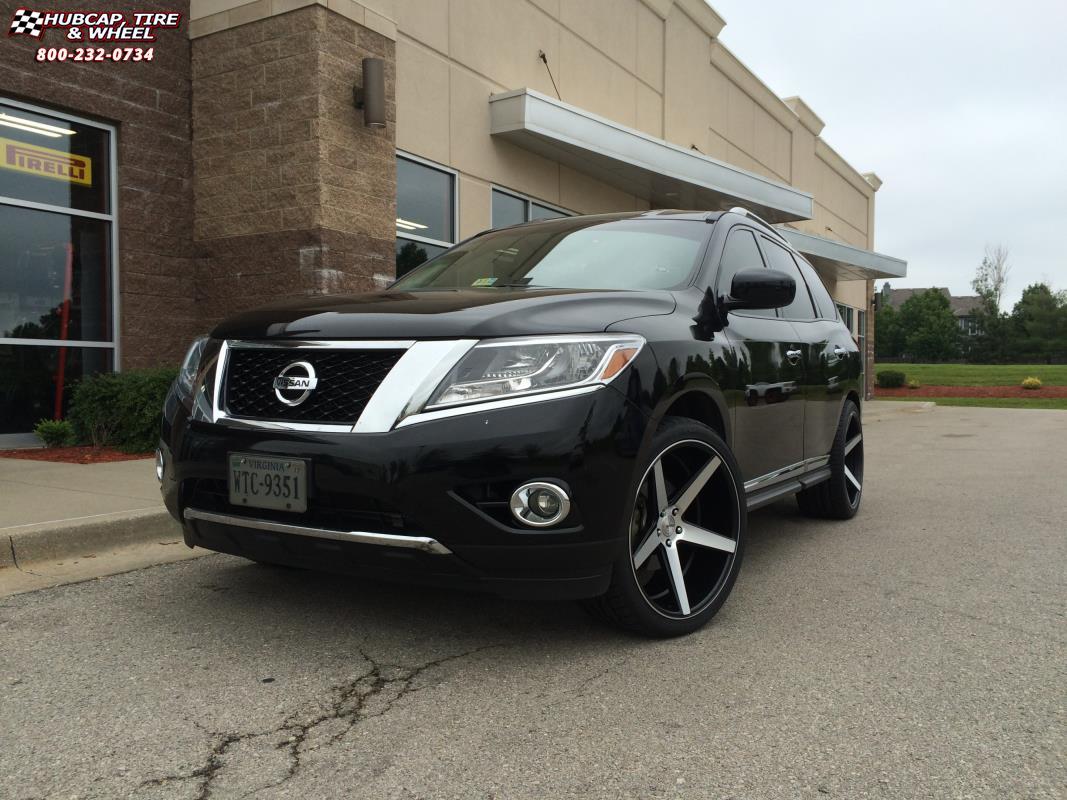 Nissan Pathfinder 22 Inch Rims >> 2013 Nissan Pathfinder KMC KM685 District Wheels